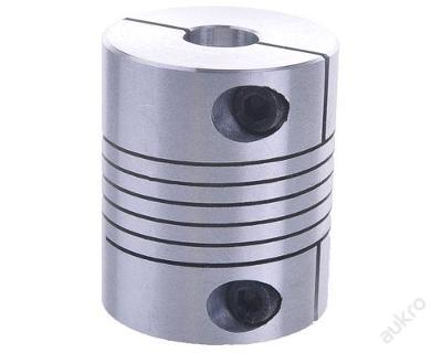Pružná spojka 4/6mm, svěrná, celokov, pr.20x25 CNC
