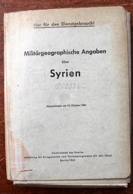 WW2, ŠPIONÁŽ, SYRIEN, GENERALSTAB DES HEERES