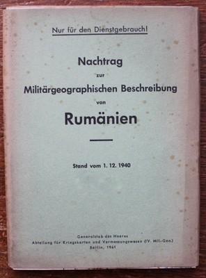 WW2, ŠPIONÁŽ, Rumanien, GENERALSTAB DES HEERES
