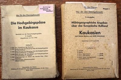 WW2, ŠPIONÁŽ,2x Kaukasien, GENERALSTAB DES HEERES