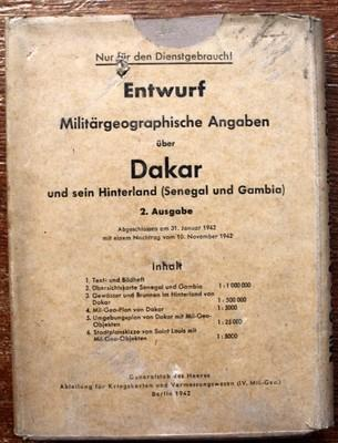 WW2, ŠPIONÁŽ, DAKAR, GENERALSTAB DES HEERES