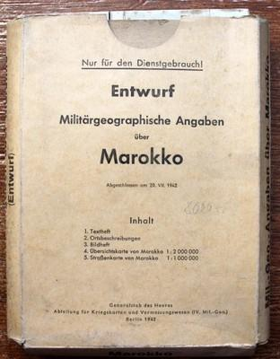 WW2, ŠPIONÁŽ, MAROKKO, GENERALSTAB DES HEERES