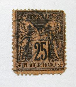 Francie 1878 Alegorie, pošk. Mi# 74 Kat 17€ 0924