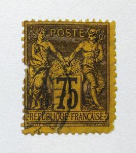 Francie 1890 Alegorie, pošk. Mi# 82 Kat 32€ 0924