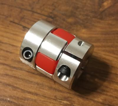 Pružná spojka 6,35/12mm, svěrná, pryž,pr.25x30 CNC