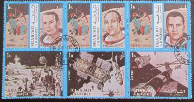 Šardžá 1972 Apollo 17 Mi# 1350-55 0884