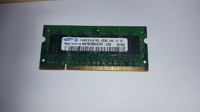 Pamět do NB Samsung 512MB DDR2 SO-DIMM 533Mhz