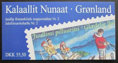 Grónsko 1997 Vánoce, sešitek Mi# MH 8 Kat $28
