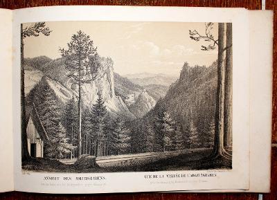 Malerischer Atlas der Eisenbahn über den Semmering