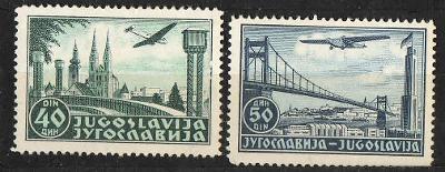 Jugoslávie - č.443-444 - Letecká pošta