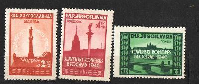 Jugoslávie - č.535-537 - Všeslovanský kongres