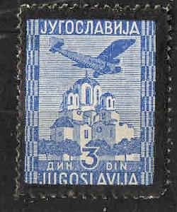 Jugoslávie - č.316 - Letecká - smuteční