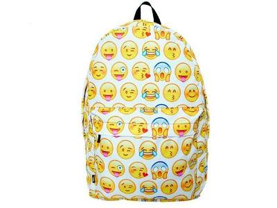 Módní Univerzální Batoh Backpack A4 Emoji Bily