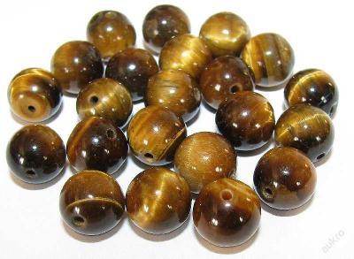 Tygří oko zlaté A, kuličky 10mm, korálky Ty21-10