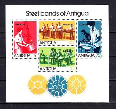Barbuda 1974 Hudební skupin Mi# Block 7 0945