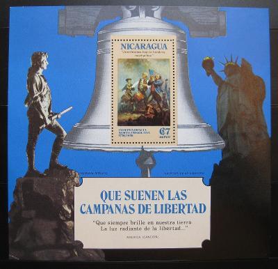 Nikaragua 1975 Americká revoluce Mi# Block 85 0978
