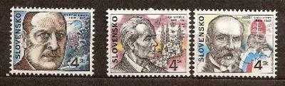 Slovensko 1998 kat.č.Mi302+303+304 / Zb142+143+144