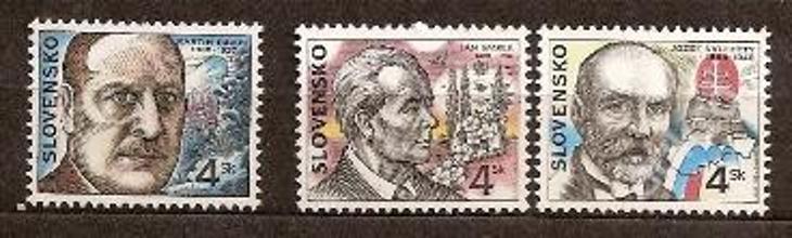 Slovensko 1998 kat.č.Mi302+303+304 / Zb142+143+144 - Filatelie