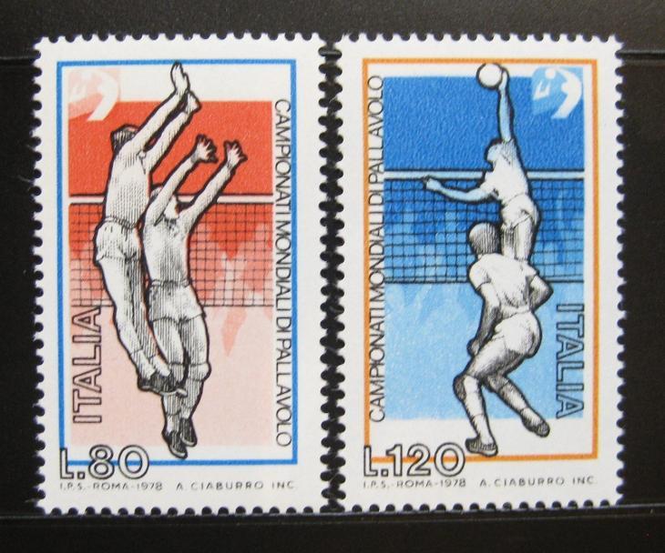 Itálie 1978 MS ve volejbale Mi# 1624-25 0886 - Filatelie