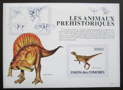 Komory 2009 Dinosauři neperf. Mi# Bl 482 B 1282