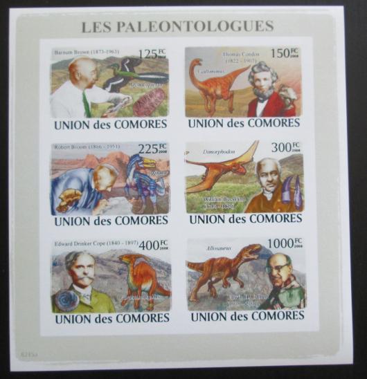 Komory 2009 Paleontologové Mi# 1960-65 B 1283 - Filatelie