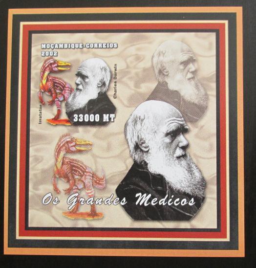 Mozambik 2002 Charles Darwin Mi# 2544 B Bogen 1285 - Filatelie