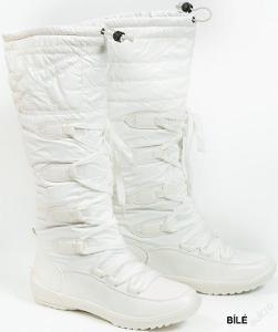 Luxusní bílé sněhule vel. 36 - SKLADEM ČERNÉ A KOUŘOVĚ ŠEDÉ