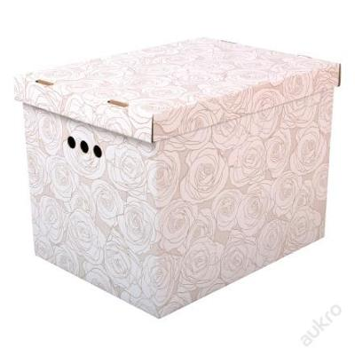 Dekorativní krabice růže XL __ úložný box __(0003)