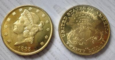 USA 20 dollars 1885 cc Liberty kopie RR M-0877