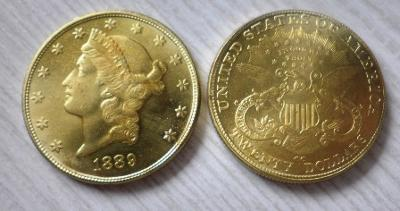 USA 20 dollars 1889 cc Liberty kopie RR M-0879