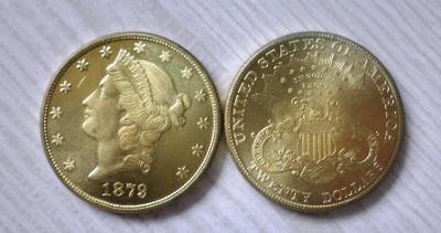 USA 20 dollars 1879 Liberty kopie RR M-0893