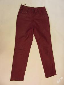 Kožené dámské kalhoty vel.33 obvod pasu: 84 cm