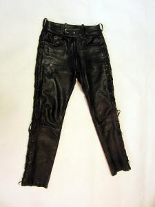 Kožené šněrovací kalhoty LOUIS vel. 48 - pas: 74