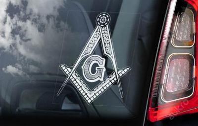 Freemasons - autonálepka na sklo aj. samolepka
