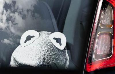 Kermit the Frog: autonálepka na sklo aj. samolep