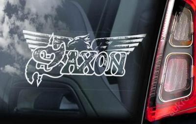 Saxon - autonálepka na sklo aj. samolepka