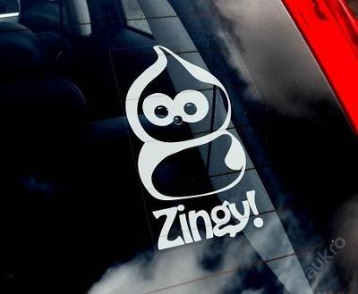 Zingy - autonálepka na sklo aj. samolepka
