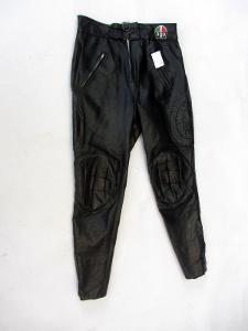 Koženkové kalhoty - obvod pasu: 80 cm