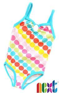 Plavky s barevnými puntíky NEXT 3-6m