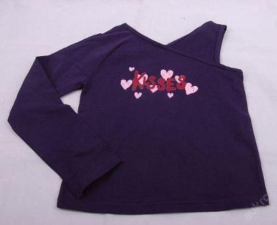 Dívčí tričko, fialové, vel.116-122