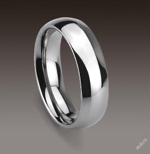 Prsten STŘÍBRNÝ WOLFRAM standard 6x20mm