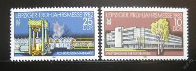 DDR 1982 Veletrh v Lipsku SC# 2246-47 0238