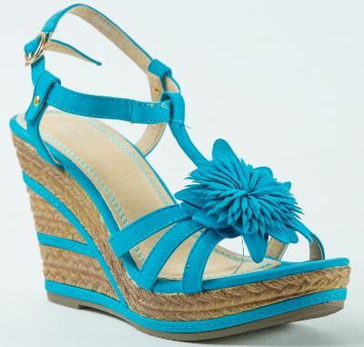 Luxusní tyrkysové letní sandálky vel. 36,39 - V NABÍDCE I JINÉ MODELY