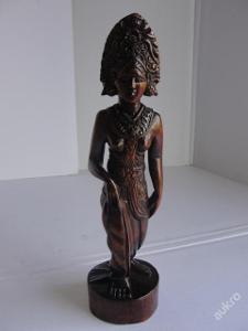 Budha, vyřezávaná socha-Bali, teakové dřevo!..
