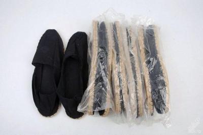 Plátěné slaměné boty , vel. 37 ( černé )