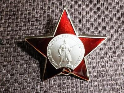 RUSKO ŘÁD Rudé Hvězdy medaile replika *4