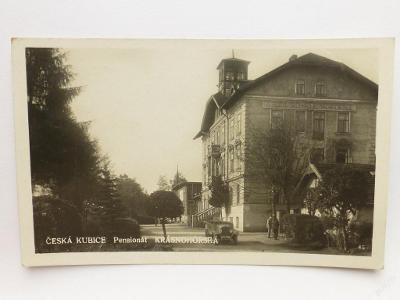 Česká Kubice, Domažlice - Pensionát - auto 1933