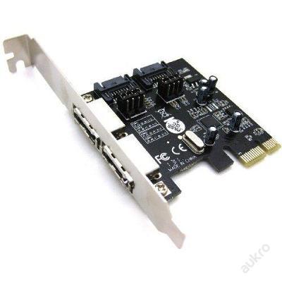 NOVÝ interní řadič 2x SATA / eSATA 3.0 do PCI-e