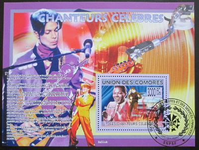 Komory 2009 Slavní zpěváci Mi# Bl 493 15€ 0515