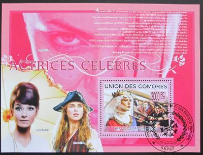 Komory 2009 Slavní herci Mi# Bl 499 15€ 0515